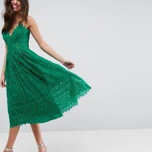 ASOS Green Lace Cami Dress